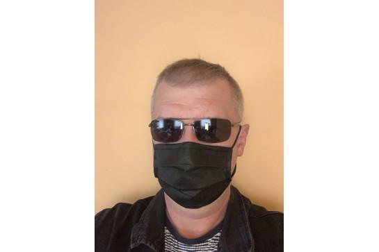 Maseczka ochronna koronawirus SlimX czarna